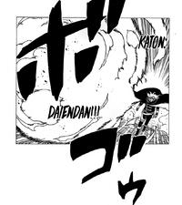 Liberação de Fogo - Grande Bala de Chama (Koji - Mangá)