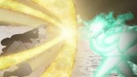 Naruto's Chakra Enhanced Punch