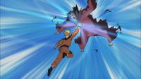 Naruto acerta um Rasengan