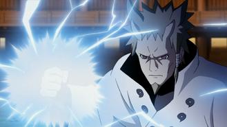 Drilling Hand of Sage Lightning anime