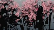 Mirai y su madre dando unas flores a Hinata