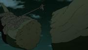 Hiruzen ataca o Shinju (Anime)