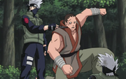 Kakashi engaña a Gozu