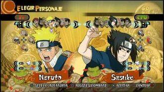 Naruto Storm Selección de personajes