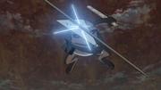 Gamakichi defendiéndose de los ataques de los Mini Clones de la Bestia de Diez Colas