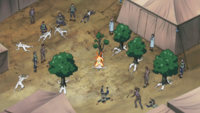 Naruto aids the Medic Division