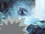 Naruto vendo Hinata treinar