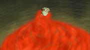 Naruto sendo consumido pelo chakra malígno