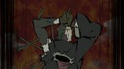 Obito utiliza el Jutsu de Sellado del Diez Colas, tras ser controlado por Madara