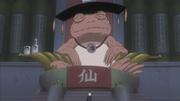 Jiraiya se encontra com o Grande Sapo Eremita
