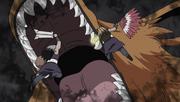 Kurama engolindo Kinkaku e Ginkaku