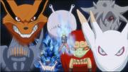 La presencia de las Bestias con Cola en Naruto