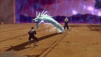 Liberação de Água - Técnica do Projétil do Dragão de Água (Tobirama - Game)
