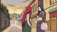 Mikoto z małym Sasuke