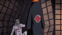Pain confronts Hanzō