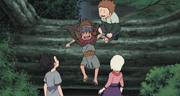Yota divirtiéndose junto al joven Trío Ino-Shika-Chō