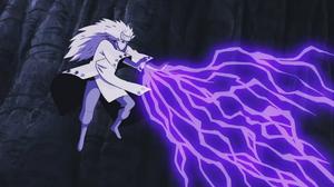 Arte Sabio Despacho de Relámpagos de Elemento Yin Anime