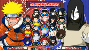 Naruto Clash of ninja 2 personajes