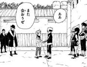 Tentō y Boruto se despiden