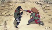 Choji vuelve a detenerse ante Asuma