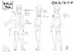 Diseño de Naruto timeskip por Pierrot