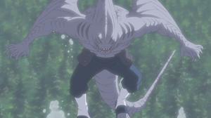 Prisión de Agua Jutsu Danza de Tiburón Anime