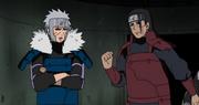 Tobirama manda a callar a Hashirama