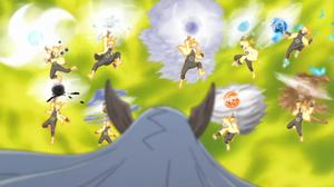 Arte Sabio Super Rasen Shuriken de Bestia con Cola Anime
