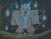 Hiruzen convoca al Shinigami
