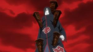 Ilusión Demoníaca Jutsu Estacas de Encadenamiento Anime