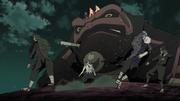 Obito destroza a Hashirama y Tobirama