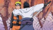Sasuke draws sword