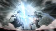 Sasuke e Naruto se colidem