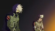 Sakumo y Kakashi conversando en el purgatorio