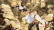 Boruto enfrenta a Naruto