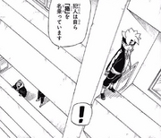 Boruto escucha sobre el secuestro de Tentō