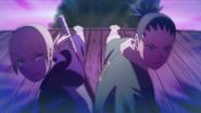 Inojin e Shikadai salvam Boruto e Chōchō