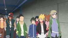Kagura dirige a toda la clase para que conozcan al Mizukage