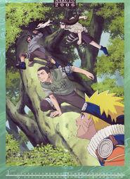 Naruto Calendario 2006 Enero-Febrero Versión B