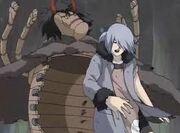 Sakon y Ukon a punto de ser atrapados en la Hormiga Negra