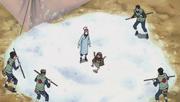 Yota bailando sobre la nieve en la División Médica