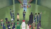 Asuma y los demás reciben a los Genin que han superado la segunda prueba