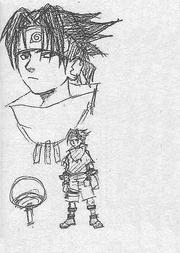 Diseño inicial de Sasuke