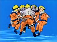 Kimimaro atinge os clones de Naruto