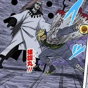 Minato tenta atacar Madara (Mangá Colorido)