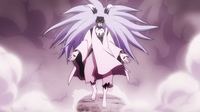 Momoshiki después de absorber a Kinshiki en el anime