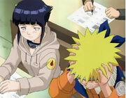 Naruto desesperado por la prueba escrita