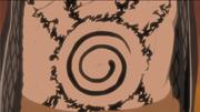 El Fuinjutsu que mantiene a Kurama dentro de Naruto Uzumaki, hecho por Minato