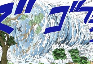 Elemento Agua Jutsu de Gran Cascada Manga