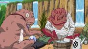 Gamamaru e Gamabunta assistem o fim da batalha